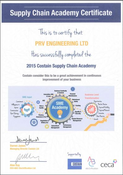 Rated Supplier Certificate